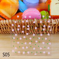 50/100p 10x10cm Love Cute Plastic Transparent Cellophane Candy Cookie Gift Bag For Biscuit Snack Baking Package Party Supplies 8