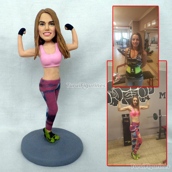 fitness instructor gymnasium coach recast mini figure statue from photo birthday gifts figura sculpture custom made souvenir