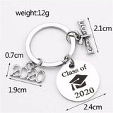 Graduation Class of 2020 University Keyring chain Gift Keepsake Bag Accessory
