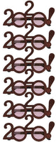 6 Pack Of 2020 Solid Glitter! Graduation Party Glasses In Choice Of Color