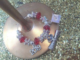 PERSONALISED GRADUATION / GRADUATE WINE / CHAMPAGNE GLASS CHARM 2020 GIFT BAG.