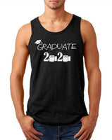 Mens Tank Top Graduate 2020 T Shirt Graduation Gift Seniors Quarantine T-Shirt