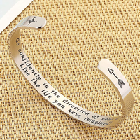 IEFSHINY 2020 Graduation Gift Cuff Bracelet - Inspirational Quote Mantra Stainle