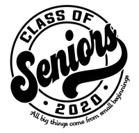 Class of 2020, Senior T-shirt, Inspirationa, Grey, Graduation Gift, Adults