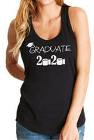 Womens Tank Top Graduate 2020 T Shirt Graduation Gift Seniors Quarantine T-Shirt