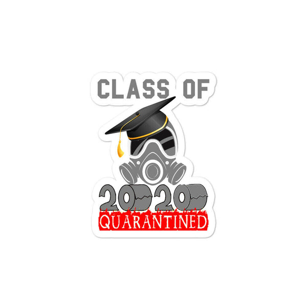 Class of 2020 Funny Quarantine Seniors Graduation Gift Bubble-free stickers