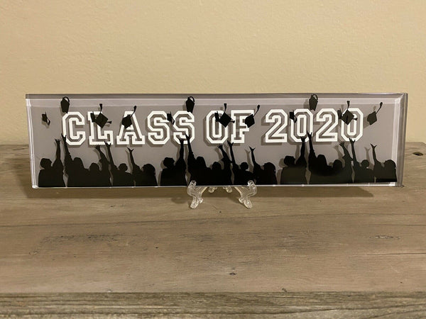 Class of 2020 graduation Gifts, Glass Plaque, Custom, Stand, Graduate Gift
