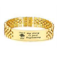 Gifts for Him 2020 Inspirational Gifts Bracelet College Graduation Gift Bangle