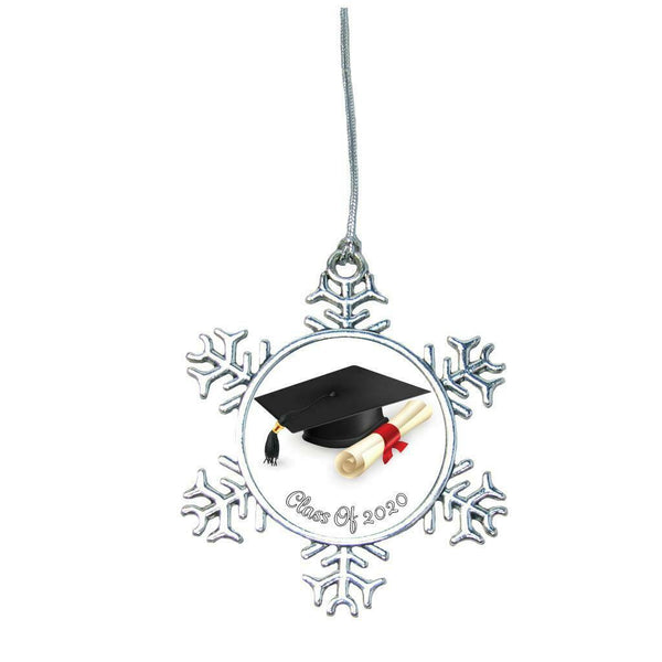 Class of 2020 Snowflake Silver Christmas Ornament Gift Graduation Gift Graduate