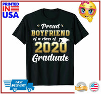 Proud Boyfriend of Class of 2020 Graduate Shirt Senior Gift TShirt