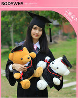 2020 Graduation doll doctor hat bachelor suit graduation bear custom girl gift