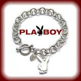 Playboy Bracelet Bunny Logo Charm CZ Play Boy y2k CLASS OF 2020 GRADUATION GIFT.