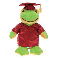 Customized graduation plush bear for her 2020 I love you gift Box Frog 12""