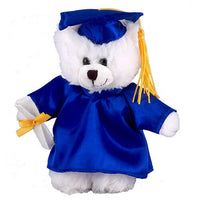 Customized graduation plush bear for her 2020 I love you gift Box White Bear 12""