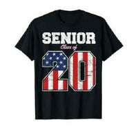 Funny Senior Class Of 2020 America Flag Shirt 4th Of July Graduation Men Gift