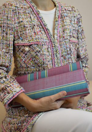 Tenun Clutch: Reds & Pinks