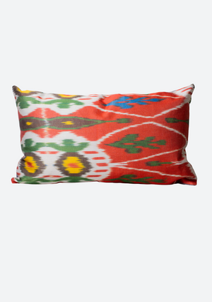 Medium Lumbar Cushion Cover in Red & Green Mix
