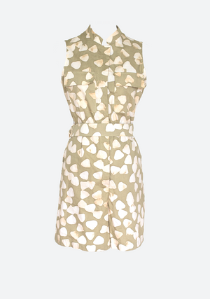 Falala Short Playsuit Giraffe Chip in Butter