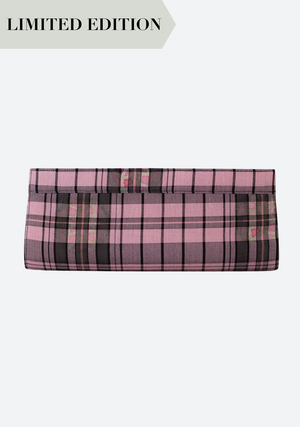 Tenun Long Clutch in Black & Pink