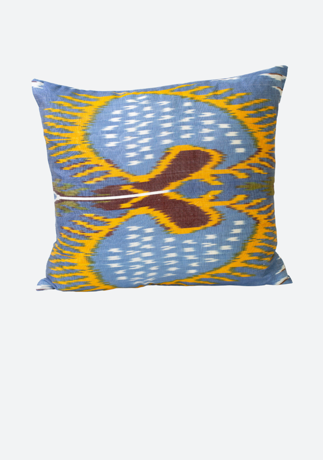 Small Cushion Cover in Blue and Yellow