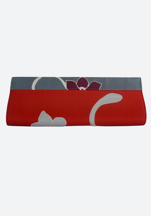 Batik Long Clutch in Red
