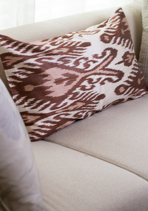 Large Cushion Cover in Brown
