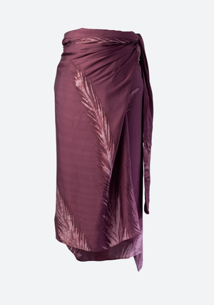 Palm Leaves Multiway Pareo in Plum