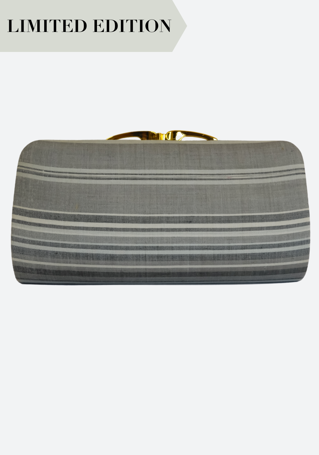 Tenun Clasp Clutch in Grey