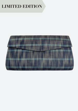 Tenun Fold Clutch in Dark Blue