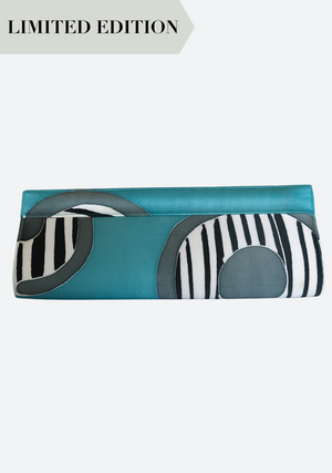 Batik Clutch: Blues & Greens
