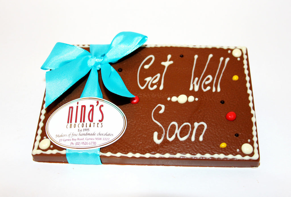 Get Well Soon Chocolate Plaques 160g