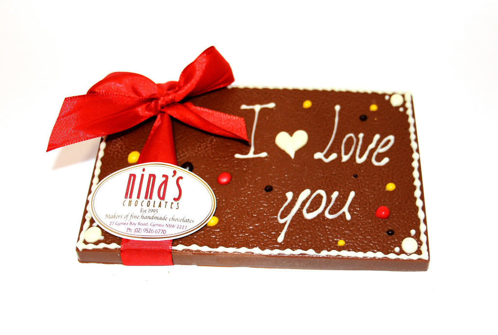 I Love You Chocolate Plaques 160g