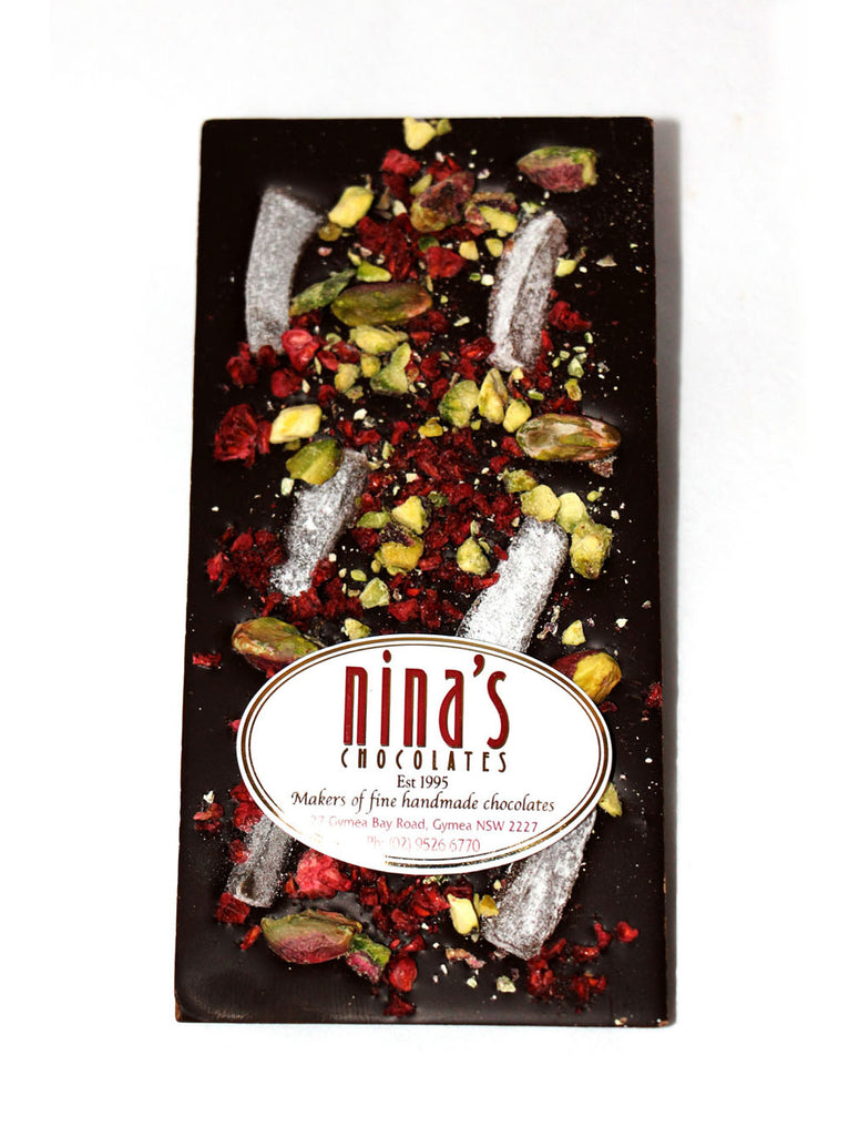 Dark Chocolate Turkish and Pistachio Bar 100g