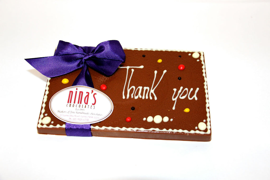 Thank You Chocolate Plaques 160g