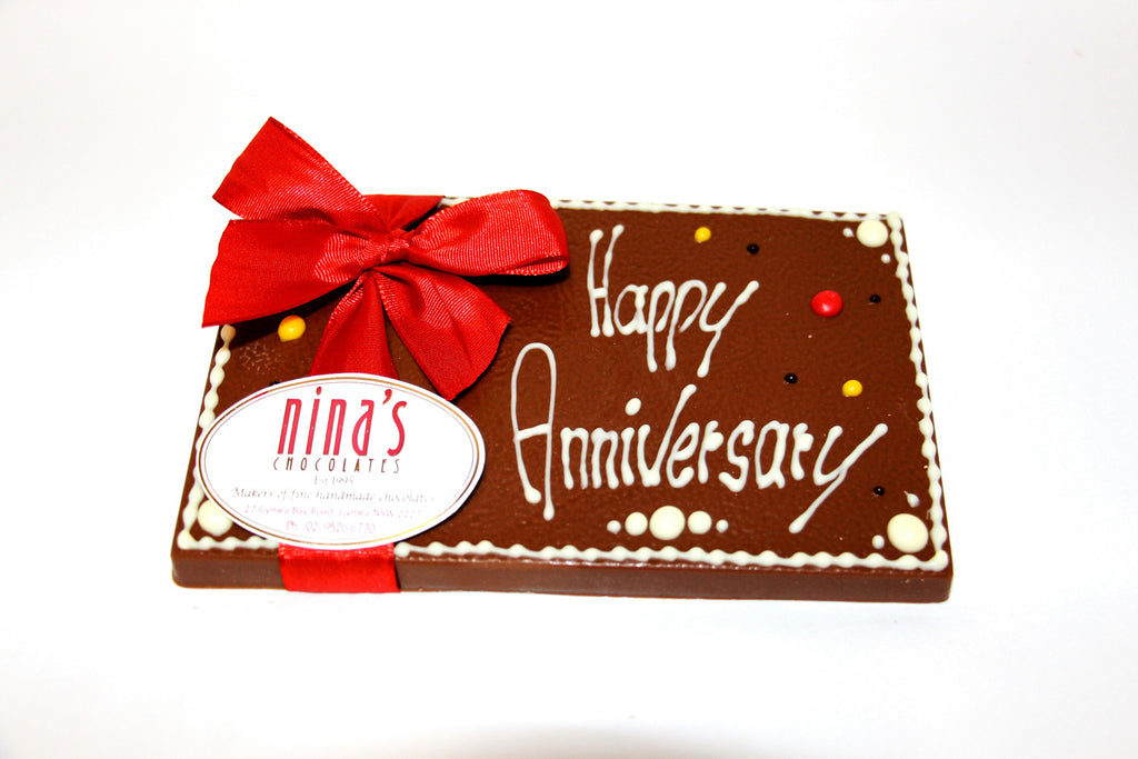 Happy Anniversary Chocolate Plaques 160g