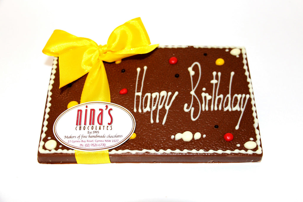 Happy Birthday Chocolate Plaques 160g