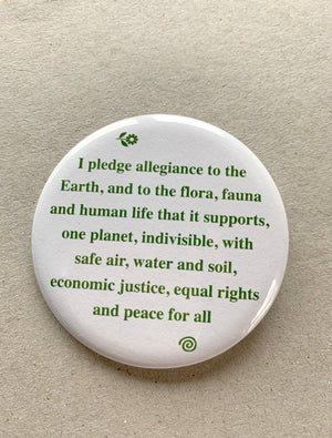 Pledge of Allegiance to the Family of Earth Button