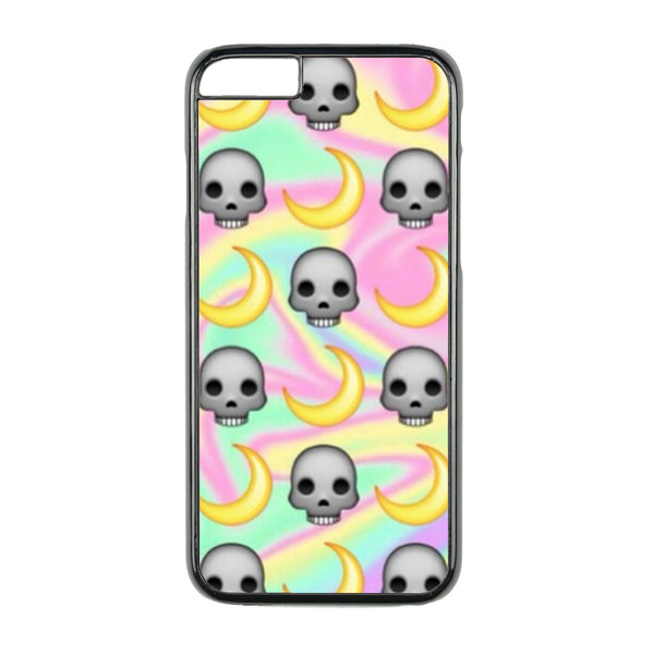 Skull and Moon Emoji Warped Case