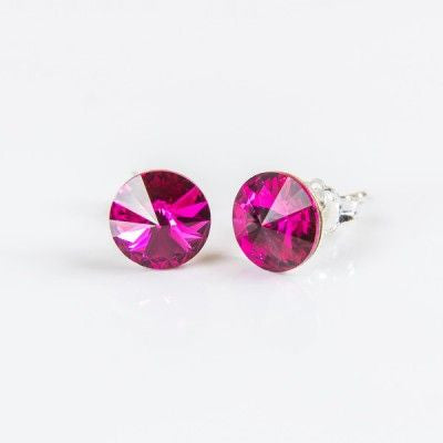 Magenta Swarovski Elements Earrings