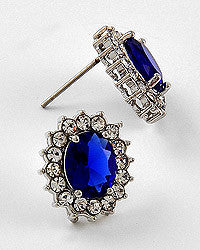 Kate Blue & Rhinestone Earrings