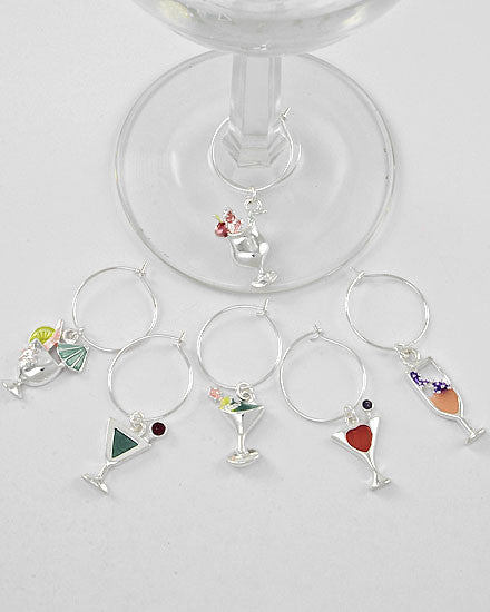 Cocktail Wine Charms - Set of 6