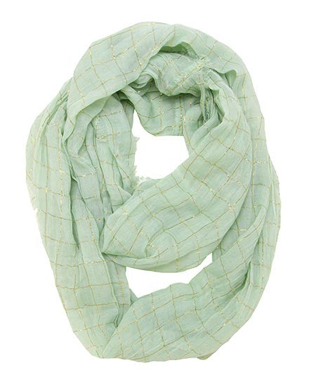 Mint & Gold Infinity Scarf