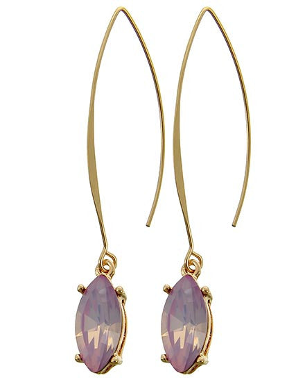 Pink Gemstone Drop Earrings
