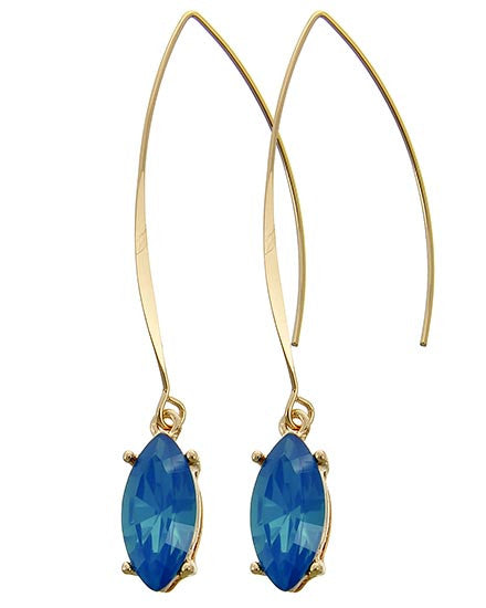 Blue Gemstone Drop Earrings