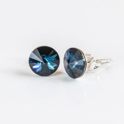 Midnight Blue Swarovski Elements Earrings