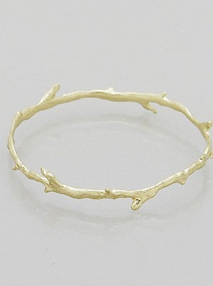 Branch Bangle Bracelet - Gold