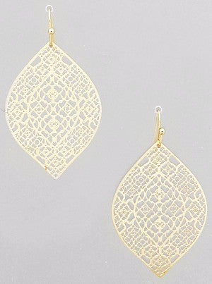 Bali Filigree Earrings in Gold