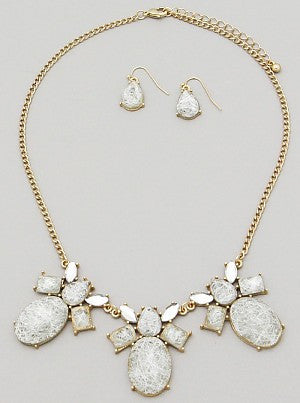 White Weaved Necklace