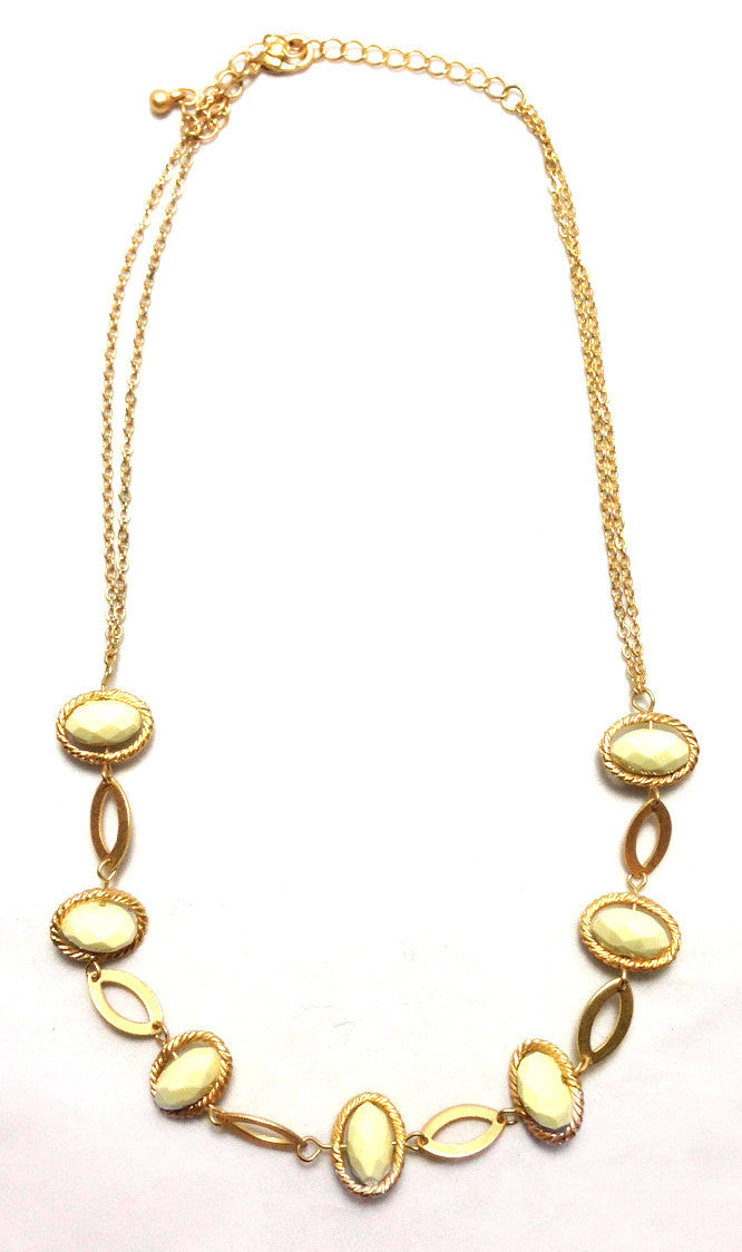 Cream Orbit Necklace