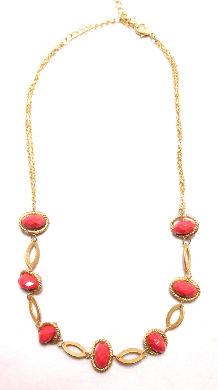 Coral Orbit Necklace